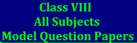 8th class rbse board paper 2021 Model Questions Papers with answers