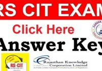 RSCIT Answer Key 19 Jan 2020 - RKCL Series A B C D Answer Sheet