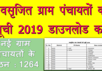 New Gram Panchayat List Rajasthan 2019, Rajasthan New Gram Panchayat & Panchayat Simiti PDF Download new gram panchayat list 2019