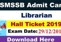 RSMSSB Librarian Grade 3 Admit Card Download 2019