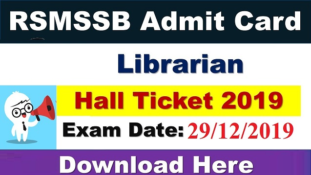 RSMSSB Librarian Grade 3 Result 2021 Cut off marks