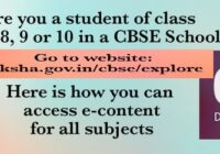 CBSE Launches E-content For Class 1st to 10th at diksha.gov.in/cbse/