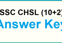 SSC CHSL Tier 1 Exam Answer key 2020 Solved paper